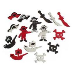 "Foam stickers ""Piraat"" 43 stuks"