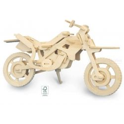 Houten 3D puzzel crossmotor