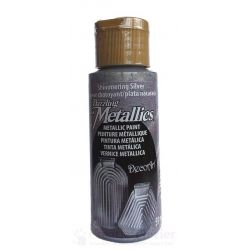 Acrylverf Dazzling Metallics - Shimmering Silver (Non Toxic) 59 ml