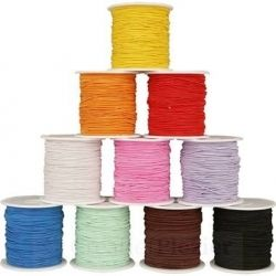 Gekleurd sieraden elastiek - dikte 1 mm  x  1 meter