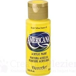 Acrylverf Americana - Bright Yellow (Non Toxic), 59 ml
