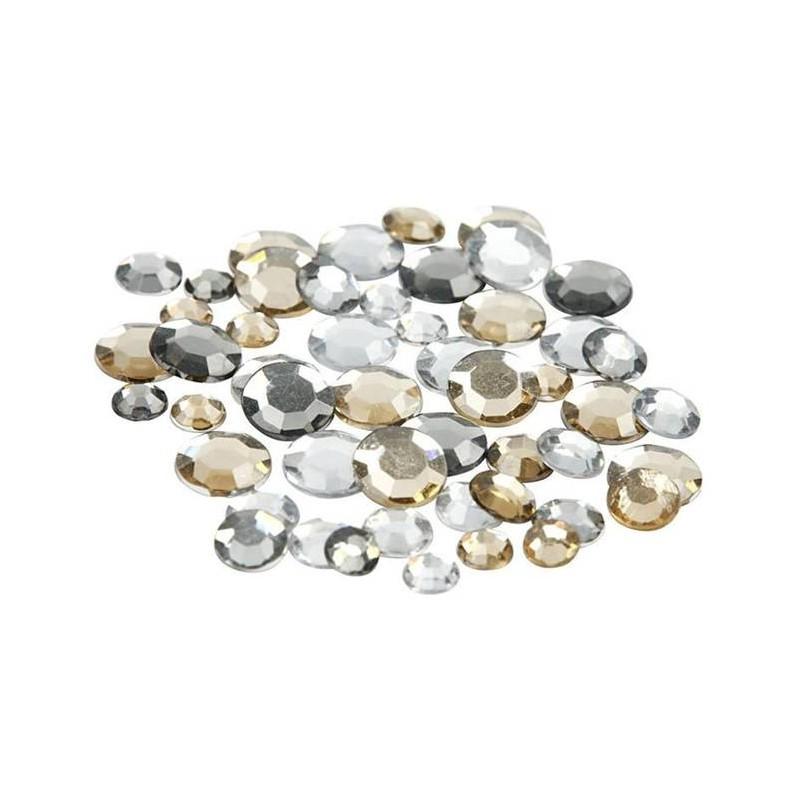 Plakstenen rond - zilver & goud (360 stuks)