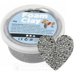 Foam Clay - zilver 35 gram