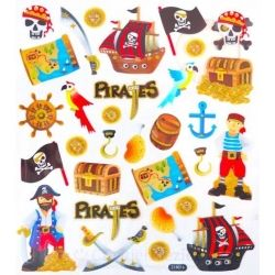 Fancy glitter stickers - piraten, 1 vel