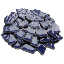 Mozaiek steentjes keramiek donkerblauw, 100 gram