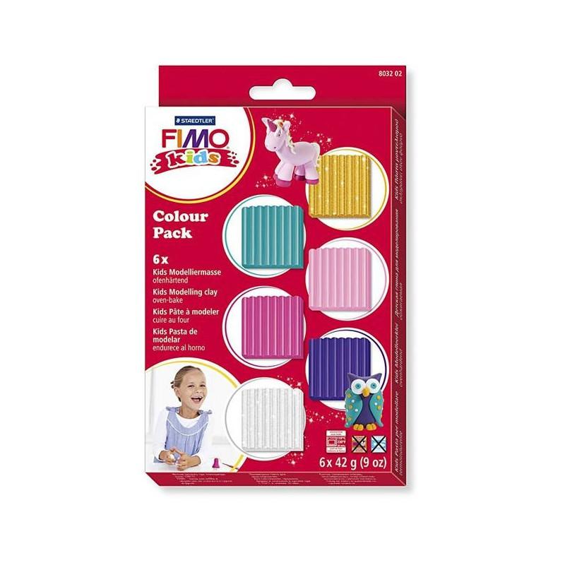 FIMO® Kids boetseerklei, 6 kleuren