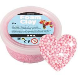 Foam Clay - glitter lichtroze 35 gram