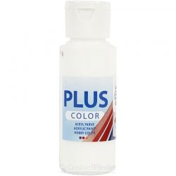 Plus Color Acrylverf Wit, 60 ml