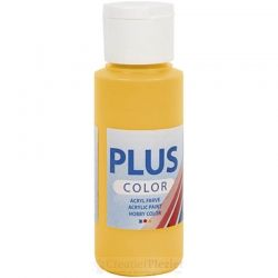 Plus Color Acrylverf Donkergeel, 60 ml
