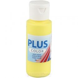 Plus Color Acrylverf Geel, 60 ml