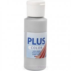 Plus Color Acrylverf Zilver, 60 ml