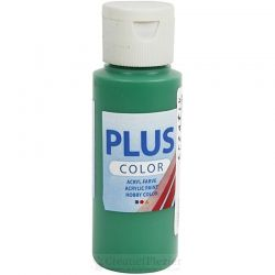 Plus Color Acrylverf Donkergroen, 60 ml