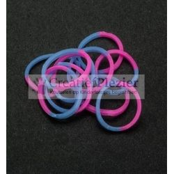 "Band-it loom elastiekjes ""Blauw/Roze"" 600 stuks + 24 S-clips"